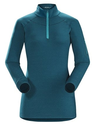 Best gear to stay warm during winter - zip neck shirt base layer