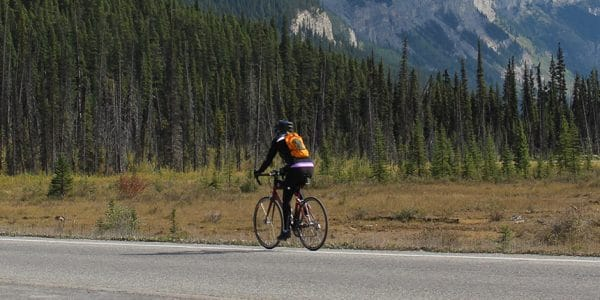 Road biking in Jasper National Park