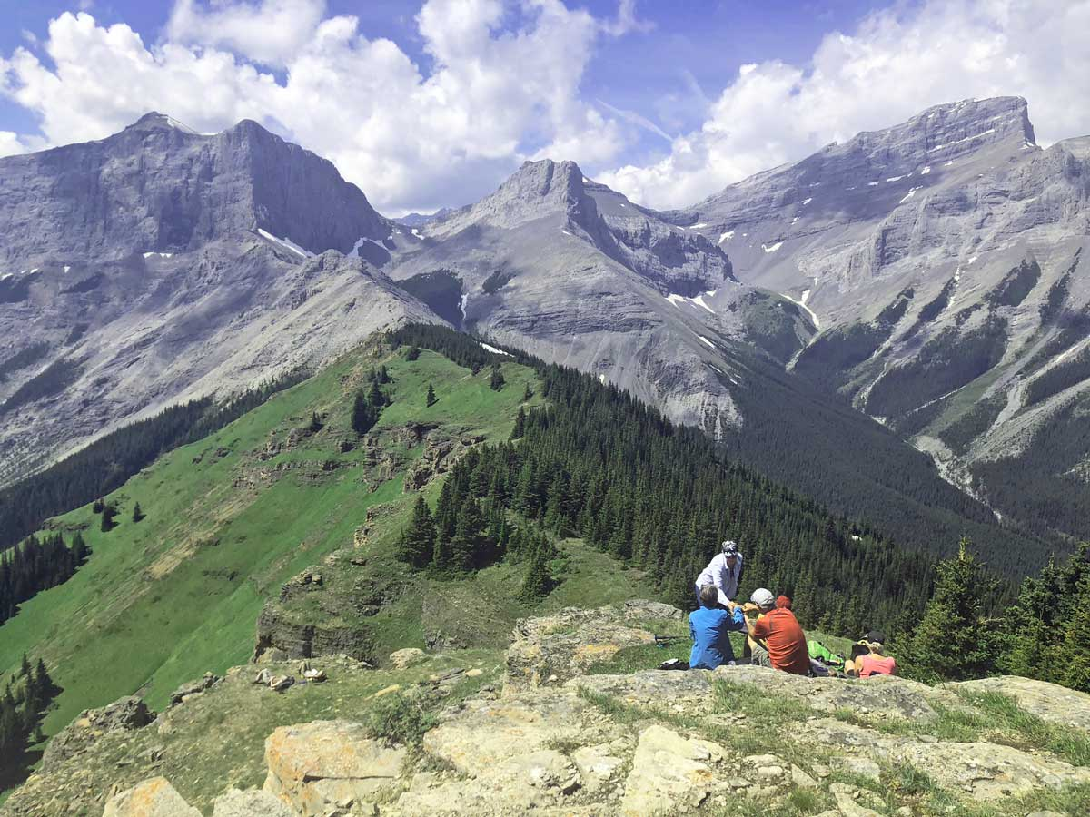 View from the summit of the Wind Ridge hike in Canmore, Alberta