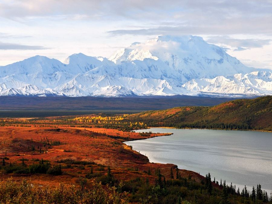 Denali Mountain and Wonder Lake at sunrise on one of America's 10 Best Backpacking Trips