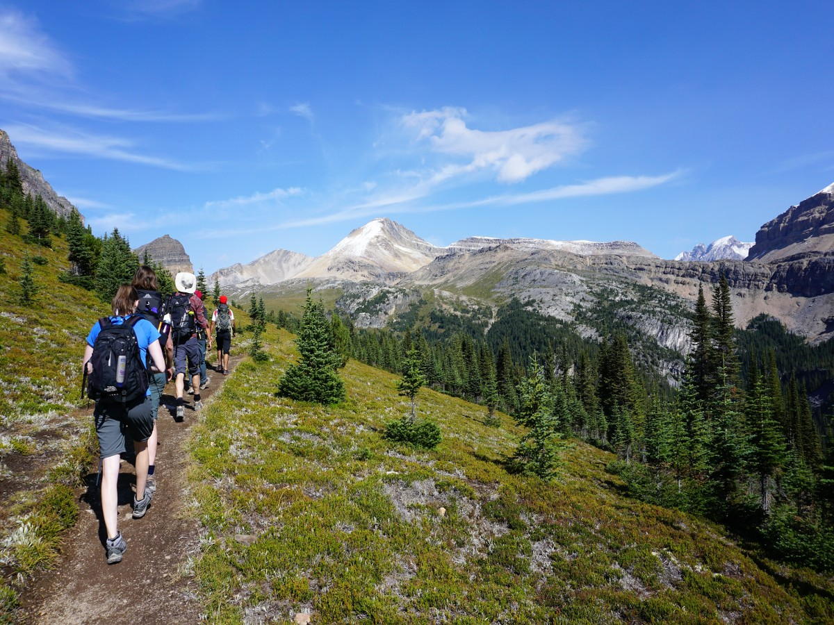 Hiking up to Helen Lake in Banff National Park is a great trip for a beginner backpacker