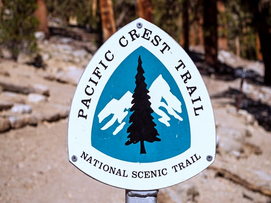Sign on Pacific Crest Trail