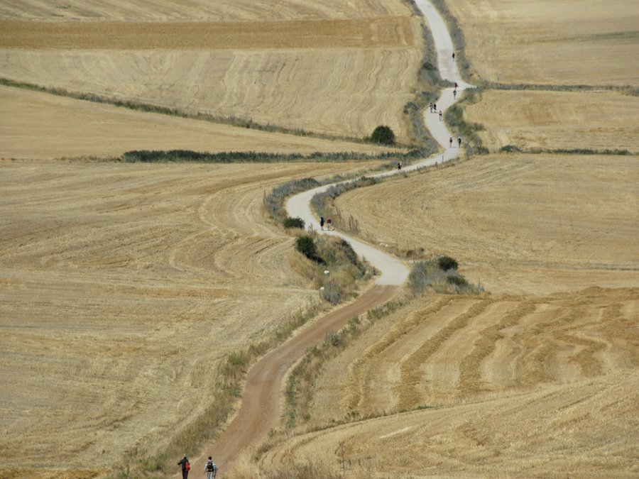 Leaving the mountains on the Camino