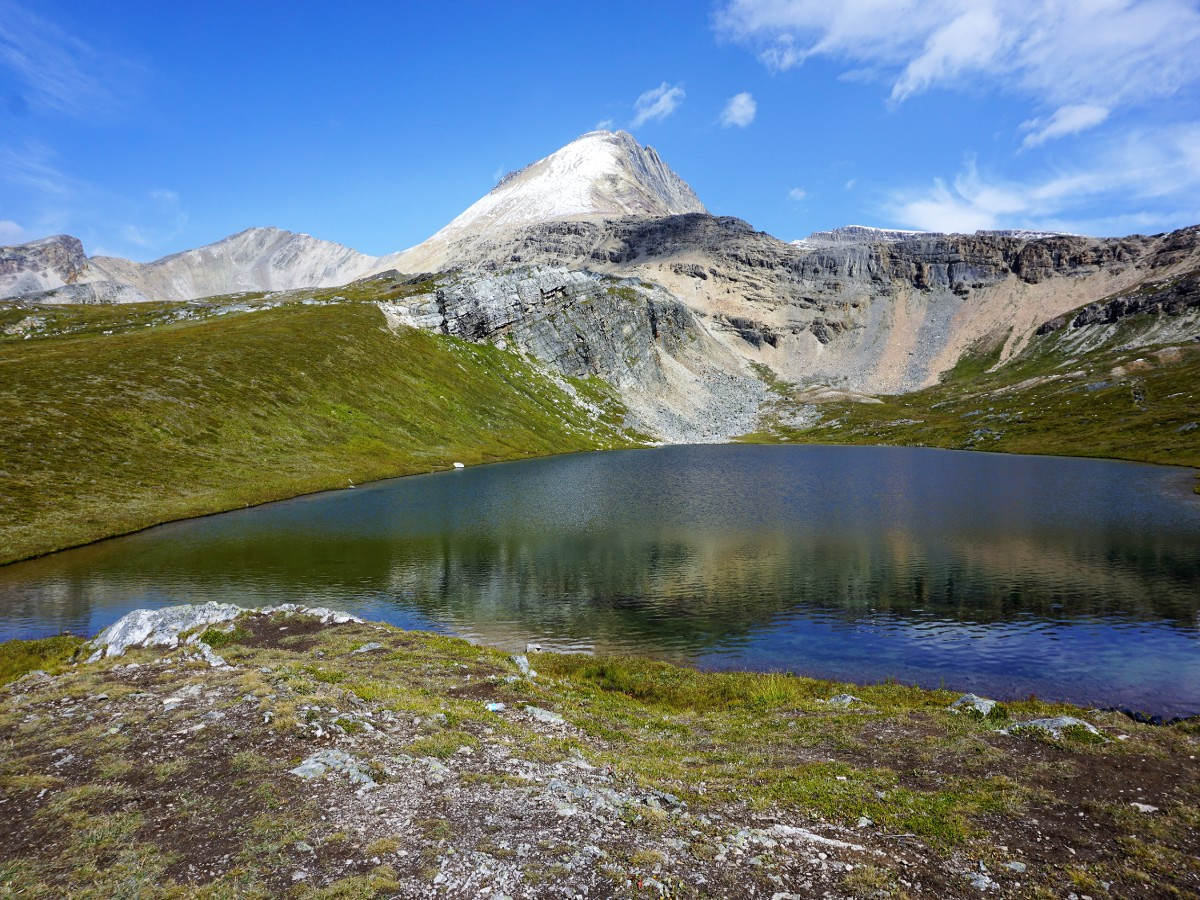 Panorama from the Helen Lake and Cirque Peak Hike from the Icefields Parkway near Banff National Park