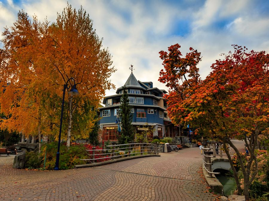 Beautiful homes in fall in Whistler