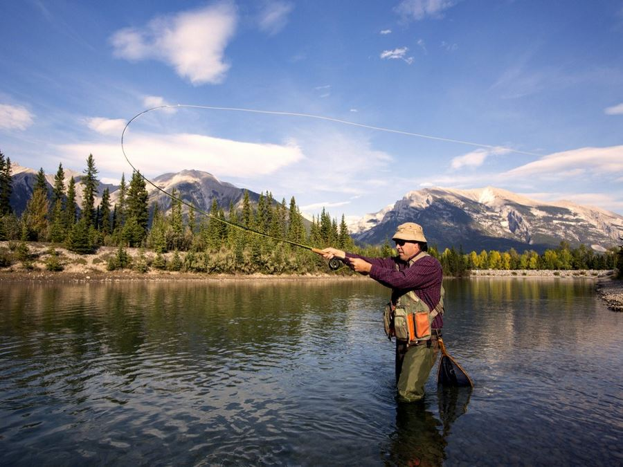 Fly Fishing is one of the best attractions in Canmore