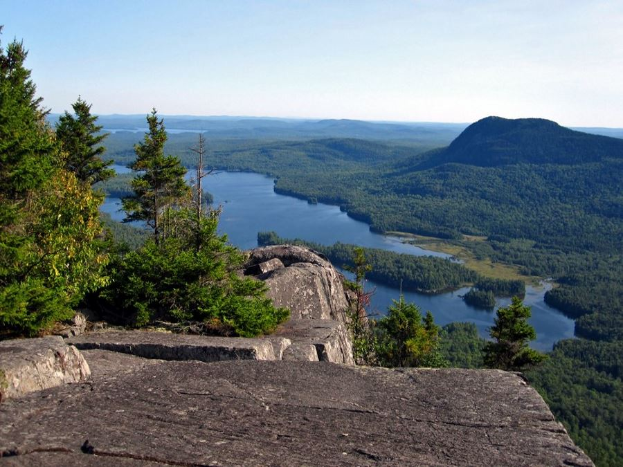 Looking down on the lake from Appalachian Trail in Maine which is one of America's 10 Best Backpacking Trips