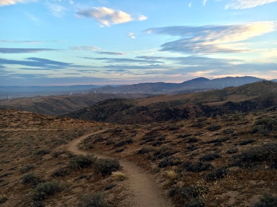 Sunset Near Tehachapi on a Pacific Crest Trail