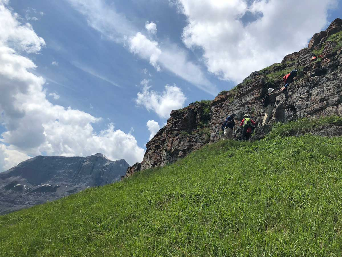 The scrambly bit of the Wind Ridge Hike in Canmore, Alberta, Canada