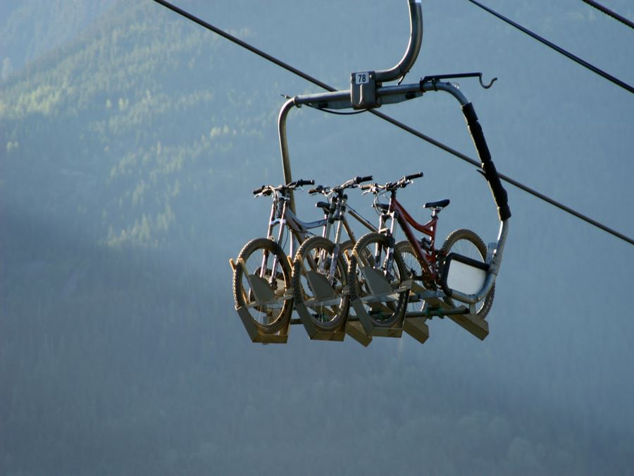 Bikes on a chairlift at Whistler, Planning your trip to Whistler