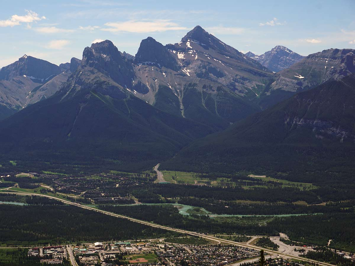 Three Sisters from the Lady MacDonald Tea House Hike from Canmore, Alberta