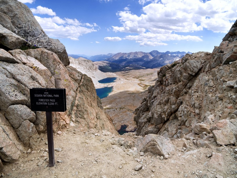 foot Forester Pass entering Sequoia National Park on the John Muir Trail
