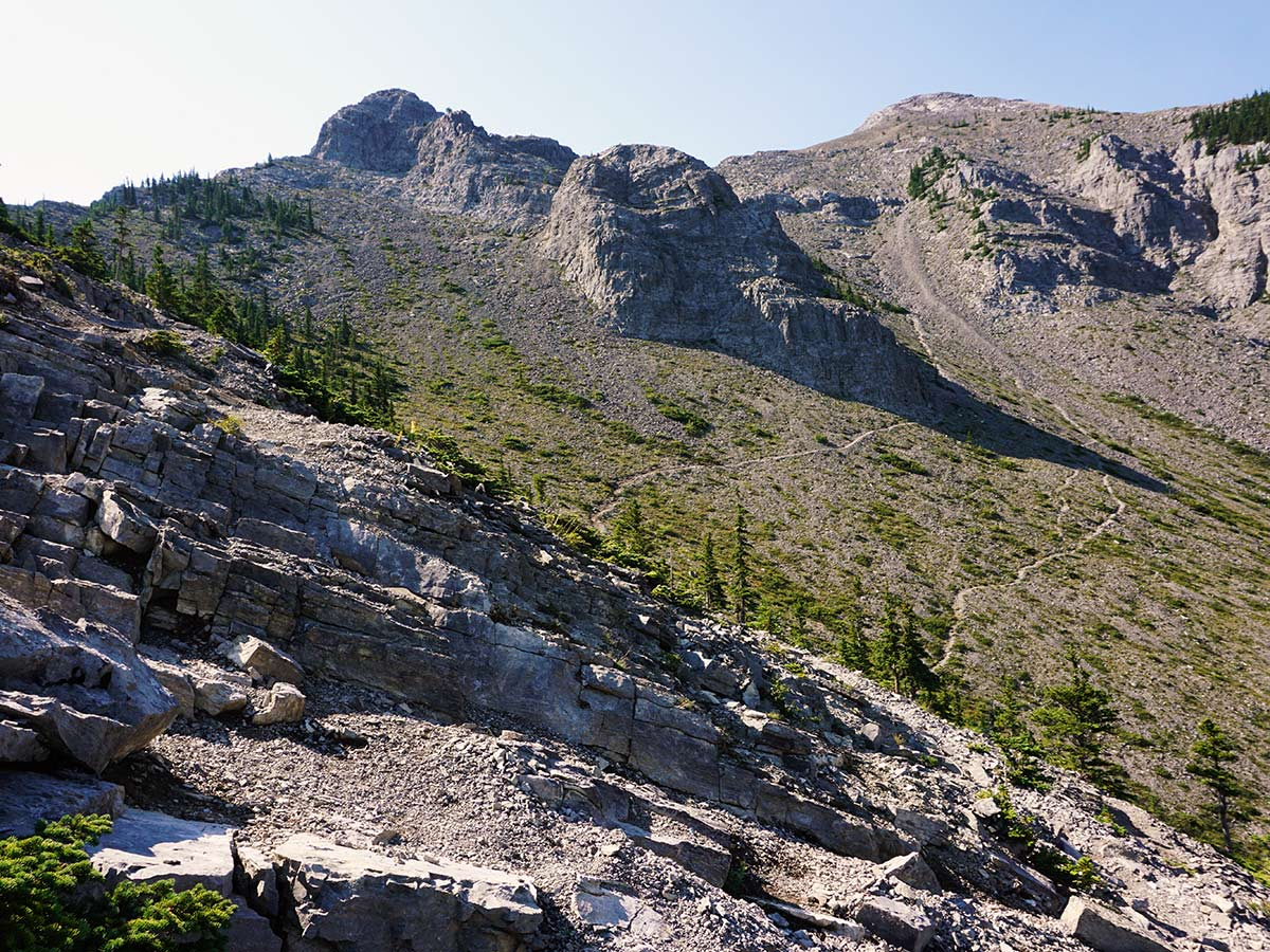 Trails on the Mt. Yamnuska Circuit Hike in Canmore, Alberta