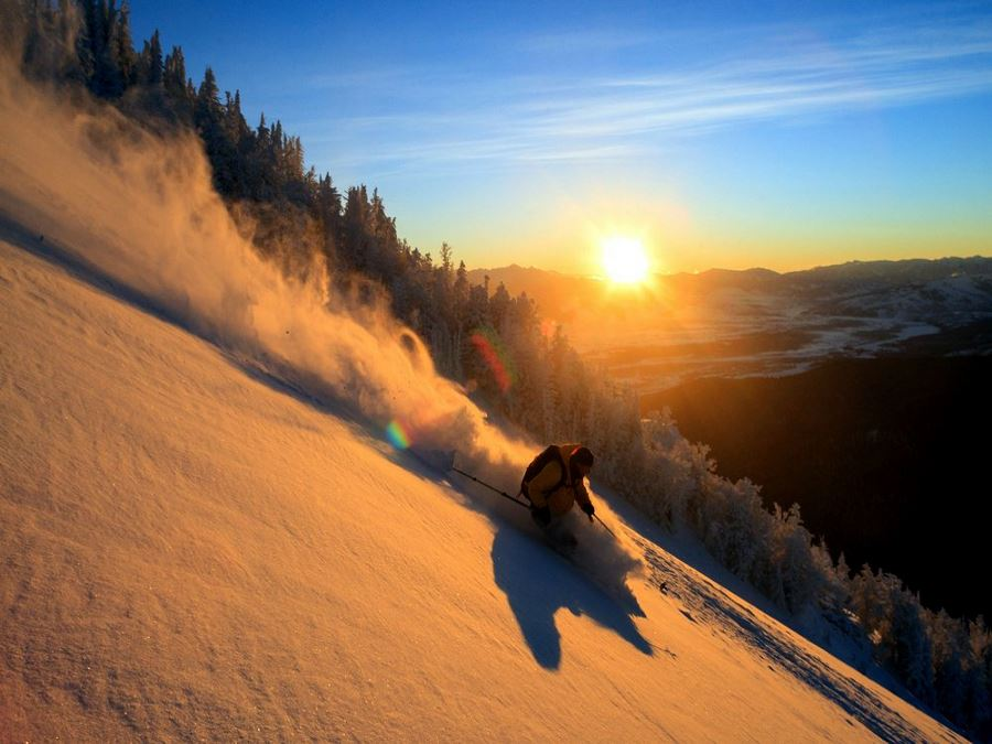 Dawn Patrol at the world class Jackson Hole Mountain Resort