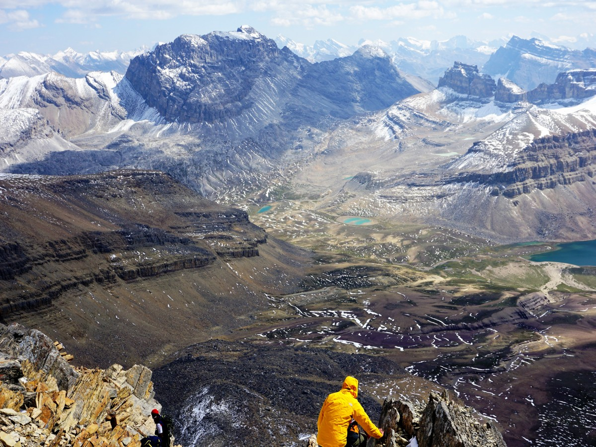 Stunning landscape from the Helen Lake and Cirque Peak Hike from the Icefields Parkway near Banff National Park