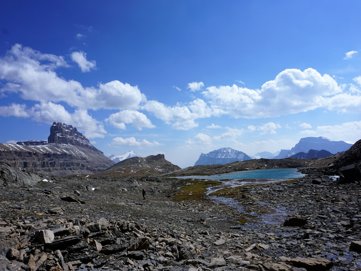 Stunning views from the Helen Lake and Cirque Peak Hike from the Icefields Parkway near Banff National Park