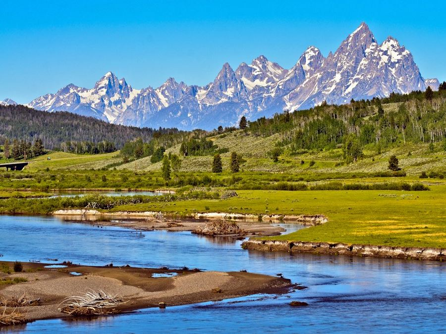 Grand Tetons offers some of the best hiking trails in Western America