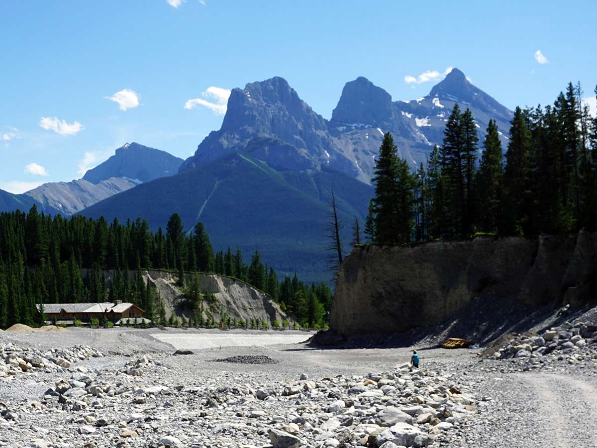 Views from Cougar Creek on the Lady MacDonald Tea House Hike from Canmore, Alberta