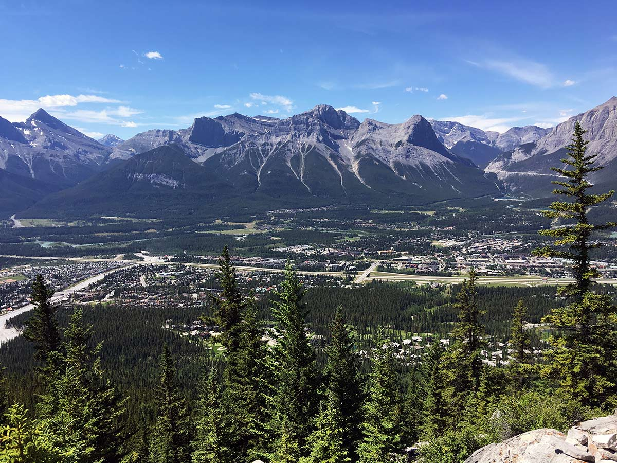 Canmore views from the Lady MacDonald Tea House Hike from Canmore, Alberta