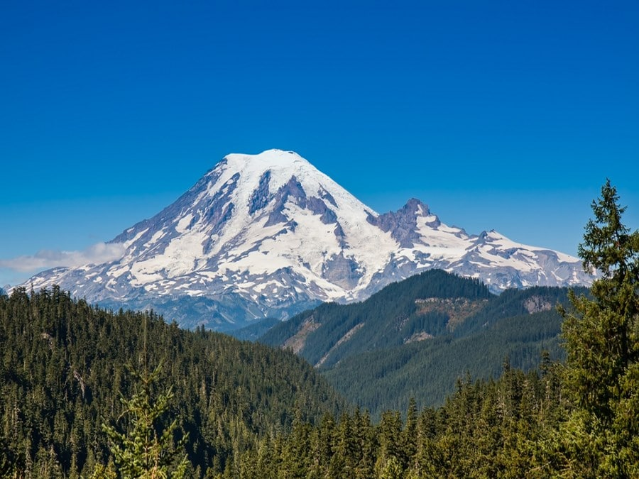 Mount Rainier as seen from the Pacific Crest Trail