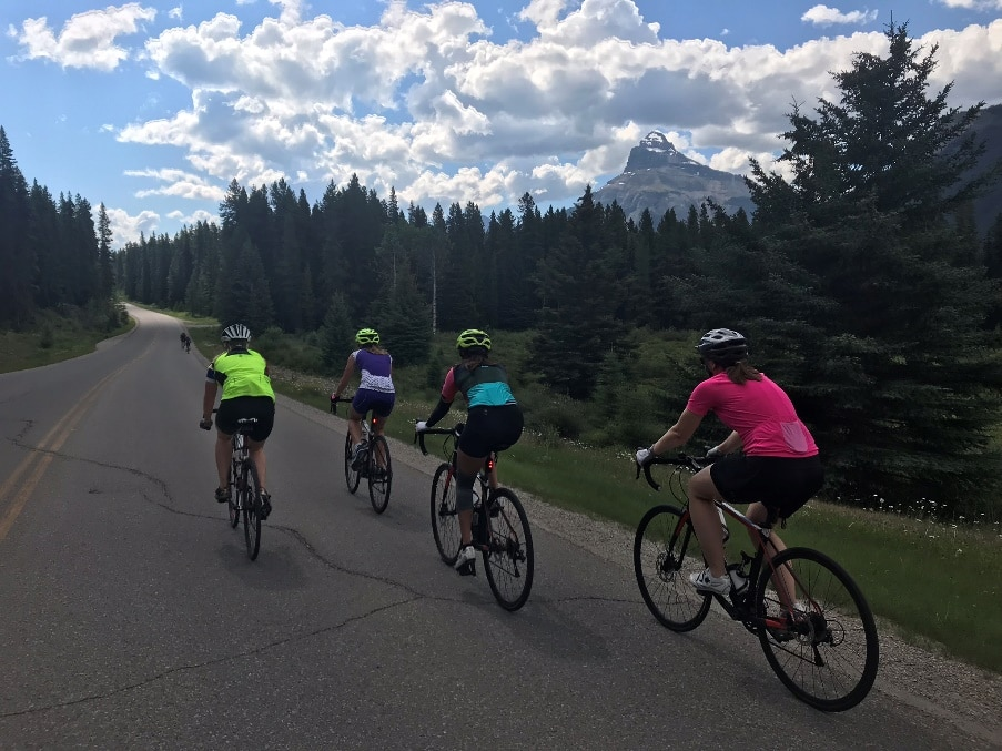 Biking in the Canadian Rocky Mountains, Jasper to Banff