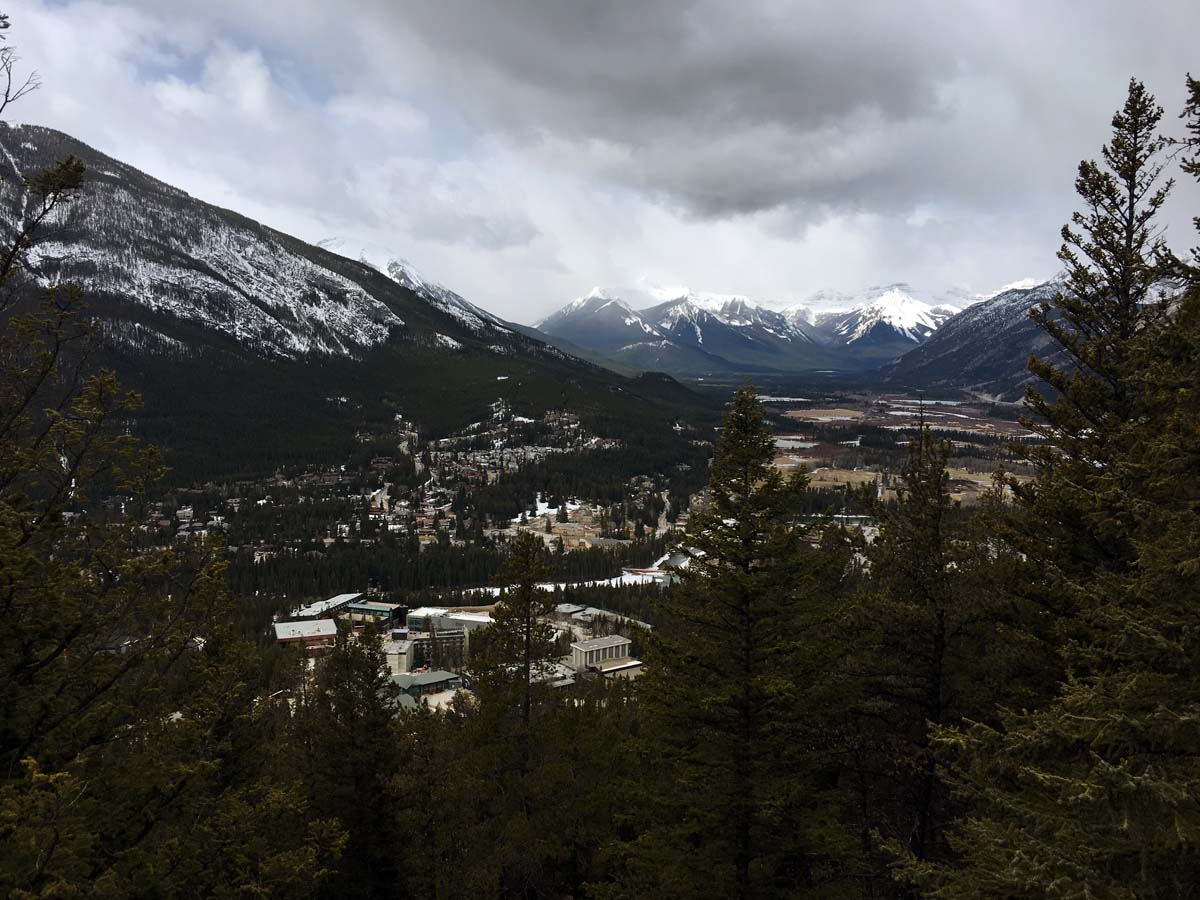 Views from the top of the Tunnel Mountain Hike in Banff, Alberta