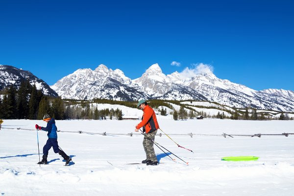 A Ski Tour in the Tetons