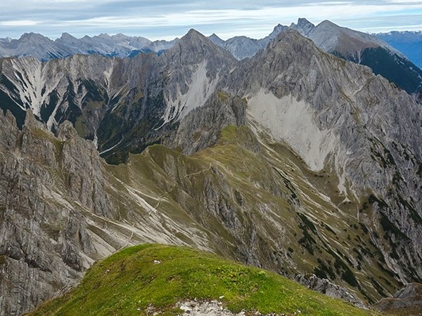Trail of the Reither Spitze hike near Innsbruck, Austria