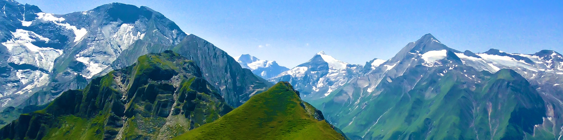 Panorama of the Imbachhorn hike in Zell am See and Kaprun Valley, Austria