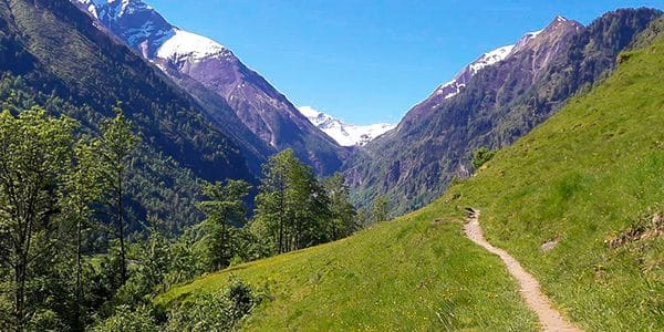 Scenery from the Klamsee hike in Zell am See and Kaprun Valley, Austria