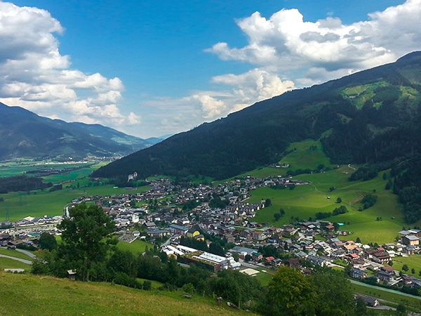 Scenic views from the Maiskogel Forest Route hike in Zell am See and Kaprun Valley, Austria