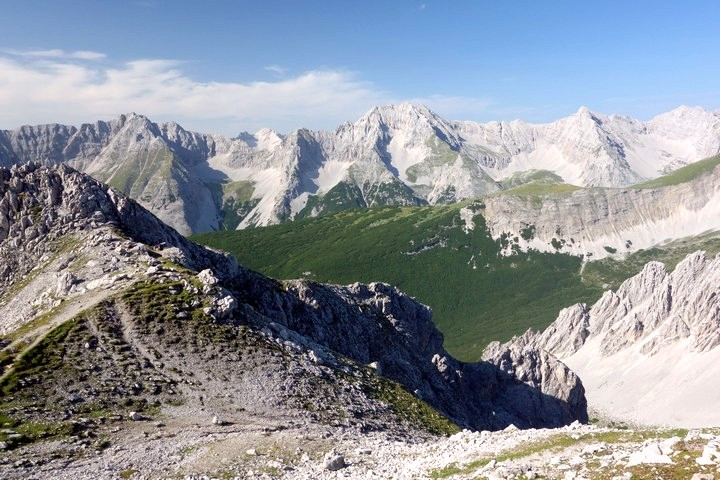 View inside the Karwendel mountain range