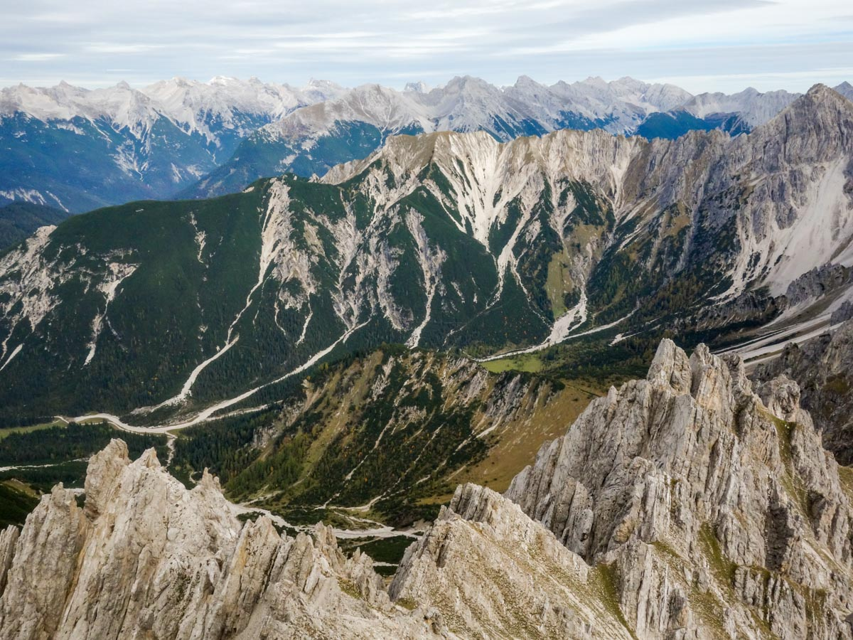 Beautiful views from the Reither Spitze Hike in Innsbruck, Austria
