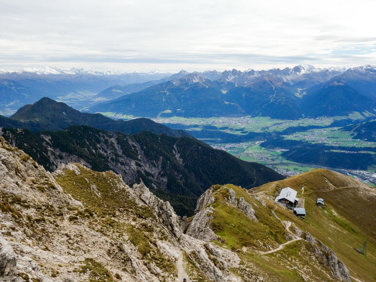 Vista from the Reither Spitze Hike in Innsbruck, Austria
