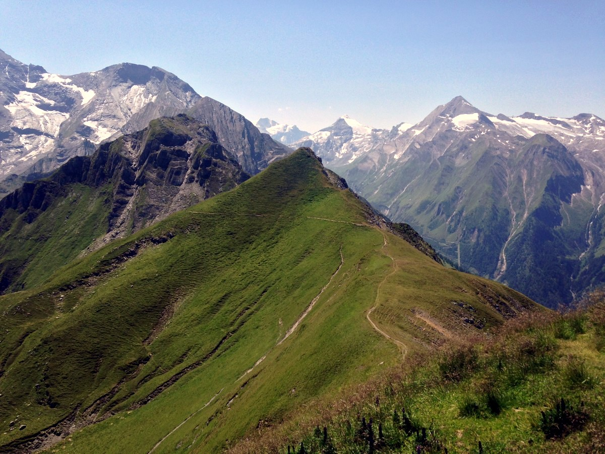 Views from the peak on the Imbachhorn Hike in Zell am See - Kaprun, Austria