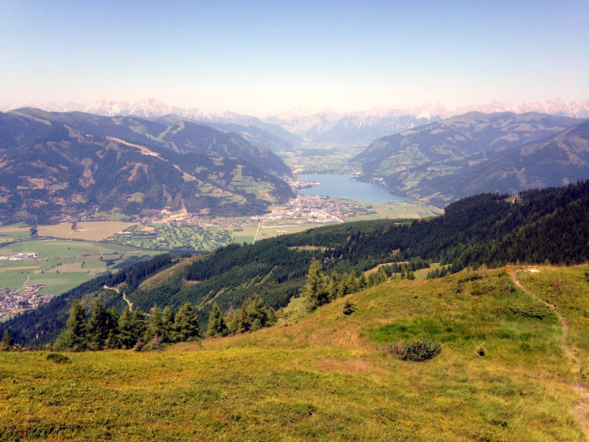 Zell am See from the Imbachhorn Hike in Zell am See - Kaprun, Austria