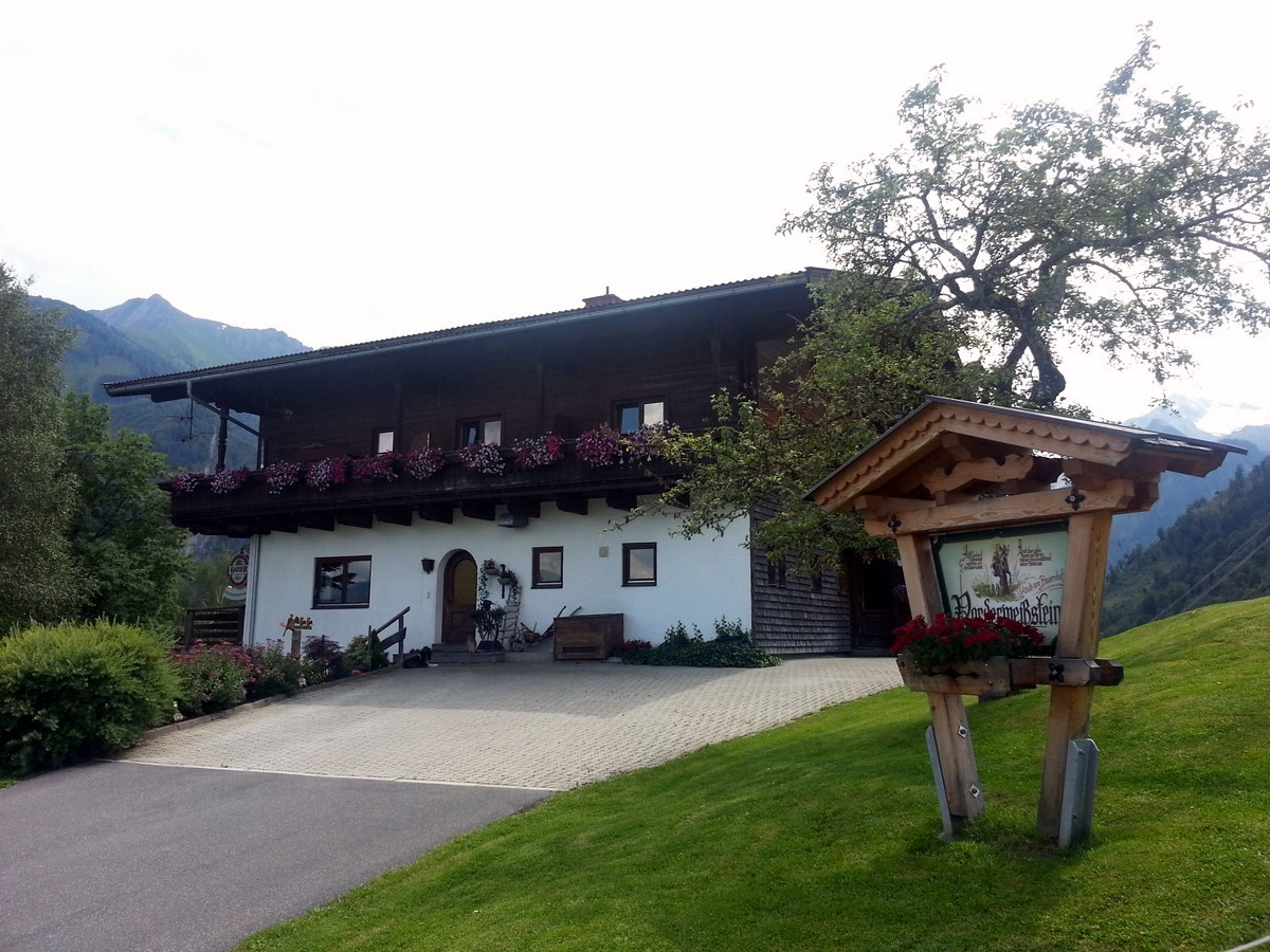 Traditional Austrian farm on the Maiskogel Forest Route Hike in Zell am See - Kaprun, Austria