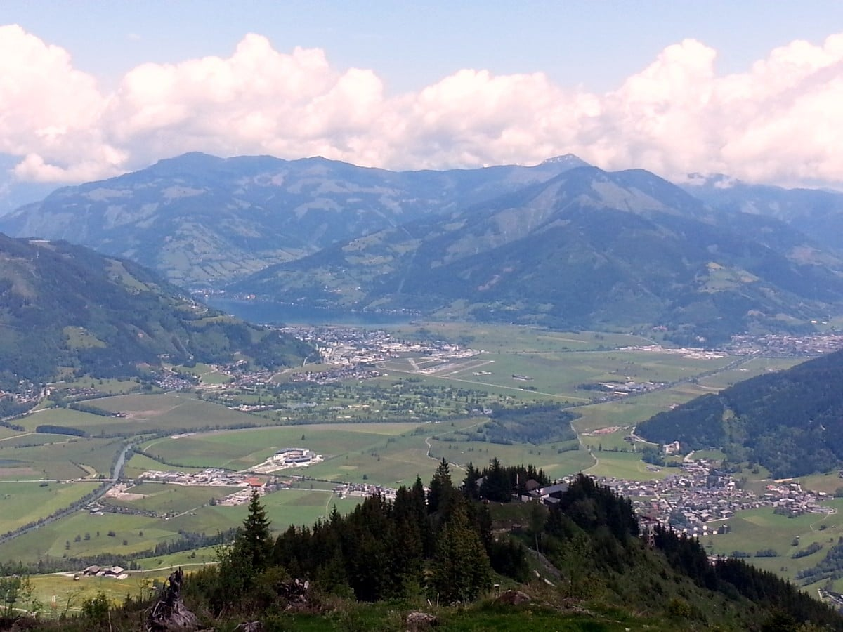 Panorama on the Maiskogel Forest Route Hike in Zell am See - Kaprun, Austria