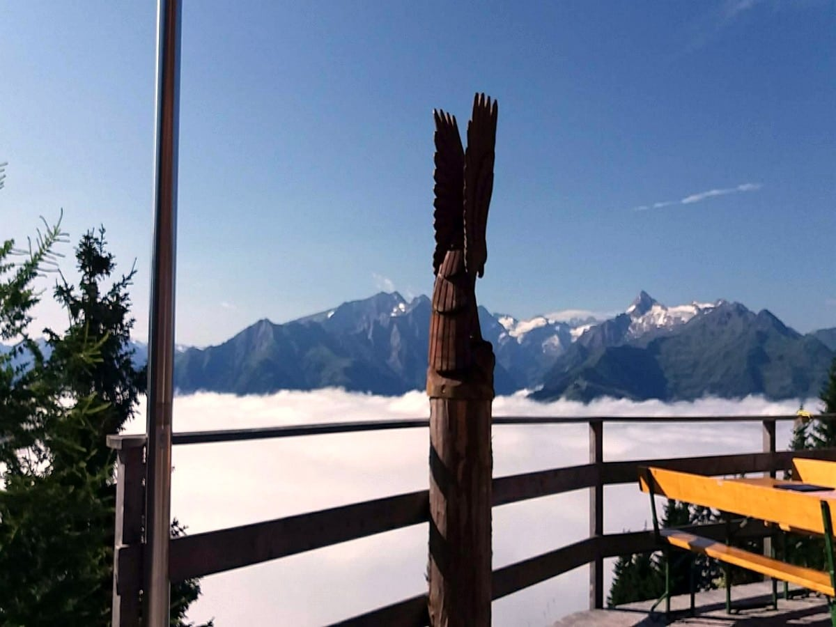 View from the hut on the Pinzgau Hut Loop Hike in Zell am See - Kaprun, Austria