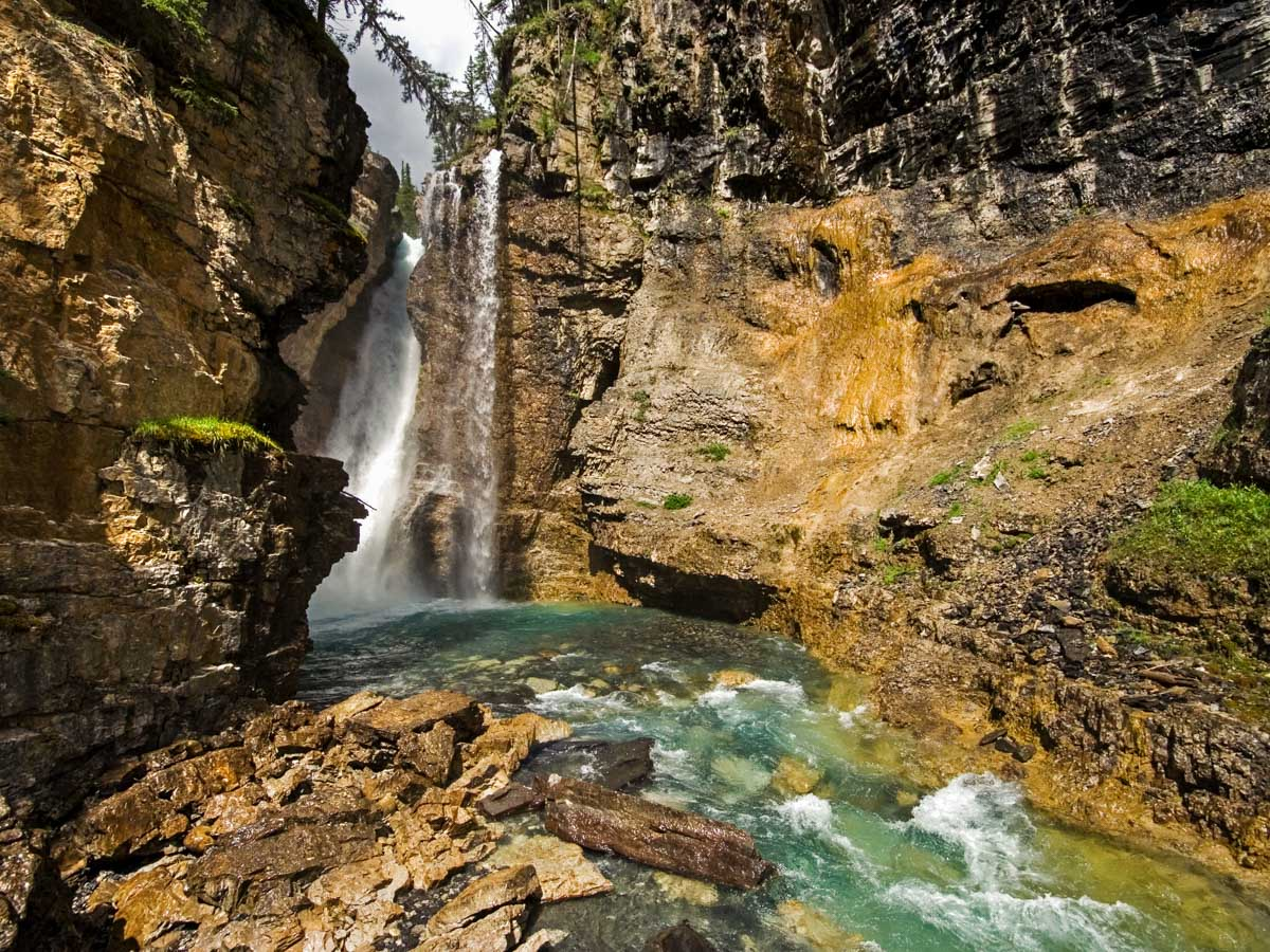 Trail of the Johnston Canyon Hike near Banff, the Canadian Rockies
