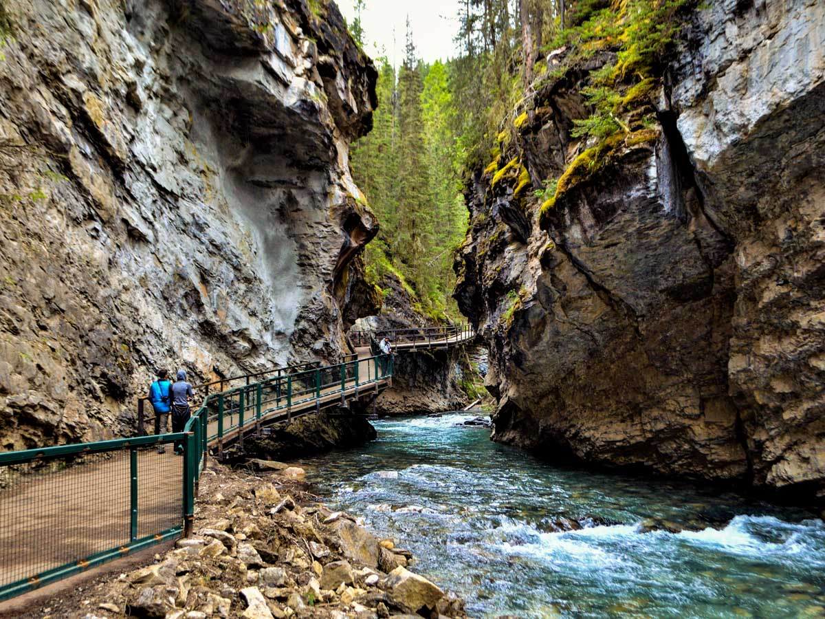 Pathways on the Johnston Canyon Hike near Banff, the Canadian Rockies