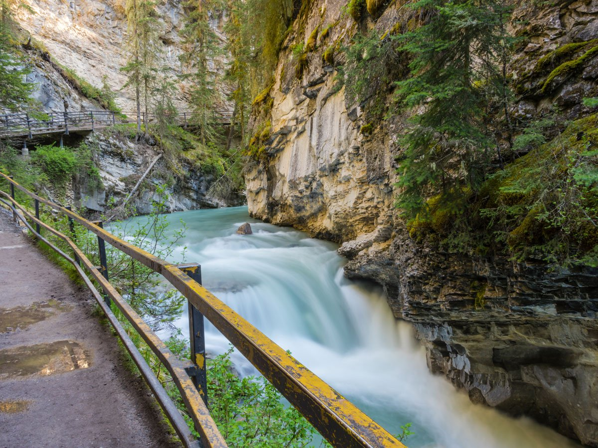 Views from the Johnston Canyon Hike near Banff, the Canadian Rockies