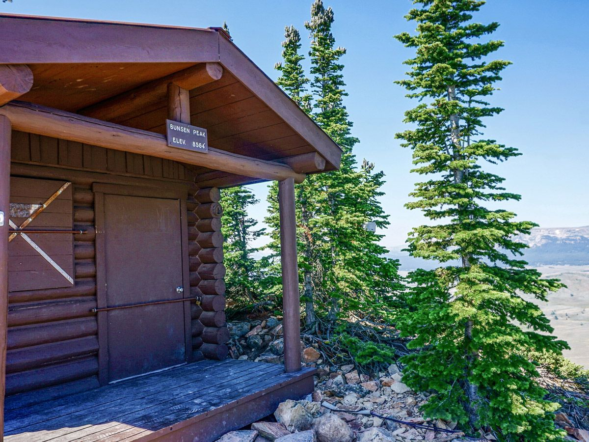 Small cabin on Bunsen Peak Hike in Yellowstone National Park