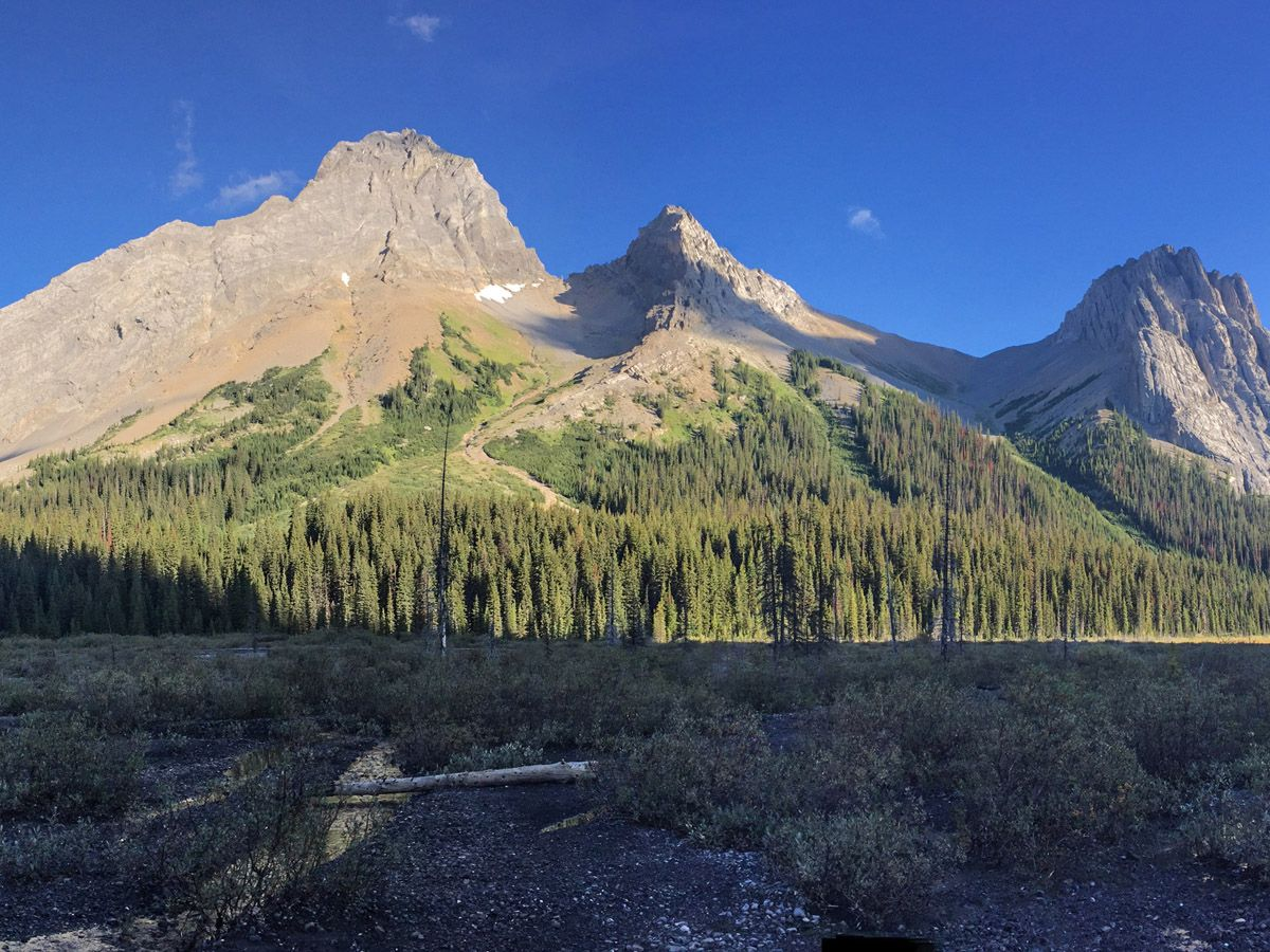 Great scenery from the Burstall Pass Hike on Smith-Dorrien trail in Kananaskis, near Canmore