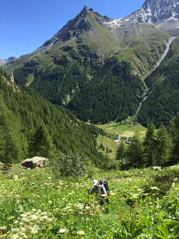 Hiking near Arolla