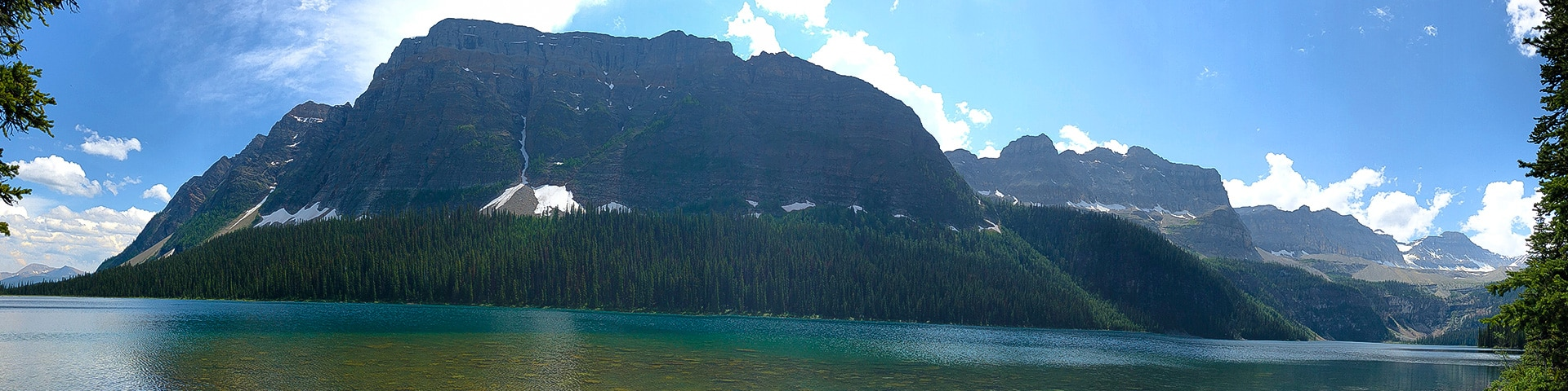 Panoramic views from the Boom Lake hike in Banff, Alberta