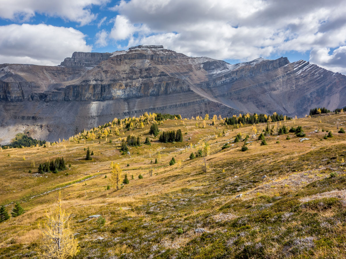 Mount Redoubt on the Hidden Lake Hike from Lake Louise in Banff National Park