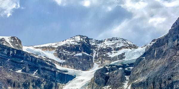 Panorama of the Stanley Glacier hike in Banff National Park, Alberta