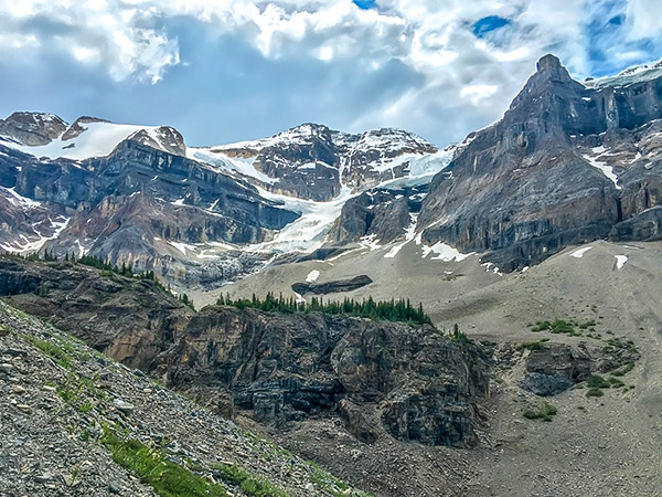 Trail of the Stanley Glacier hike in Banff National Park, Alberta
