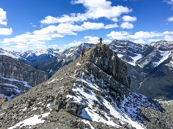 Scenery from the Ha Ling Peak hike in Canmore, the Canadian Rockies